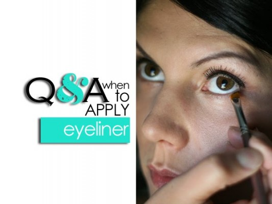 Q&A: When to apply eyeliner?