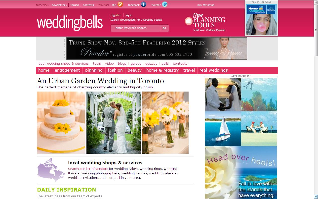 WEDDING   Stephanie + Andy featured on WeddingBells.ca's Blog!