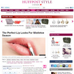 GET THE LOOK | Huffington Post x artistrhi:  Perfect Lip Looks for Mistletoe Season
