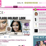 GET THE LOOK | A Flash Holiday Look with L'Oréal Paris' La Couleur Infallible Eyeshadows