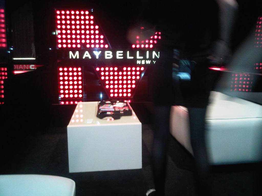 Maybe it's Maybelline at wMc fashion week.  wish i took More pics, but so goodbusy!