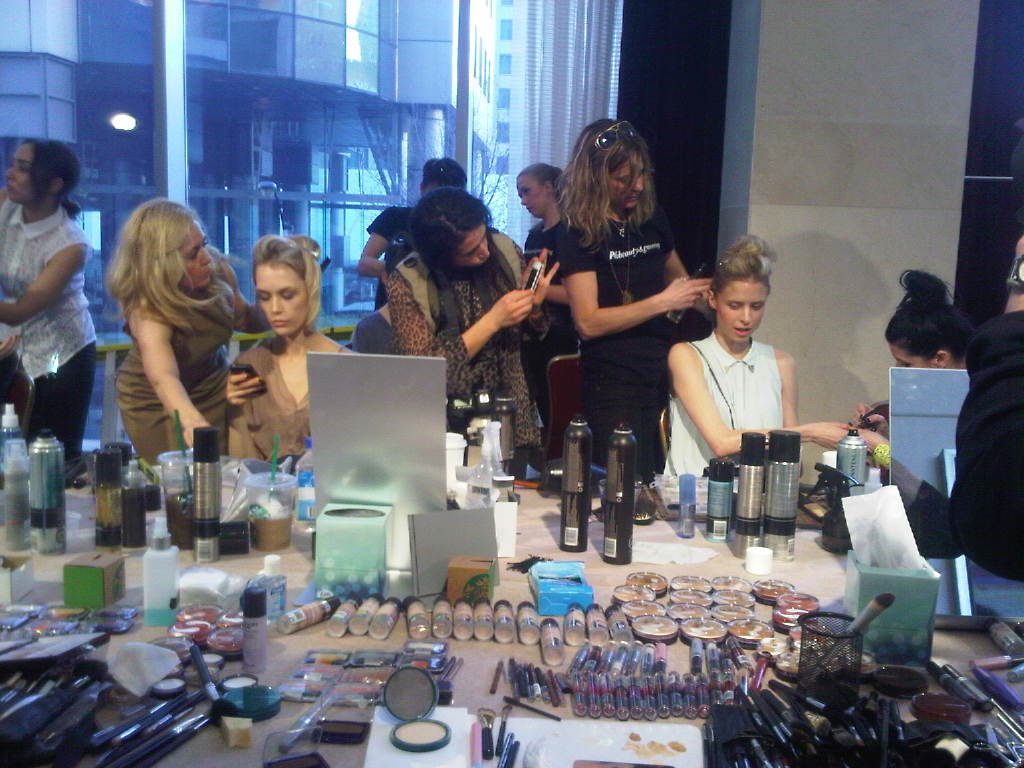 day 2 Make-up at the shows