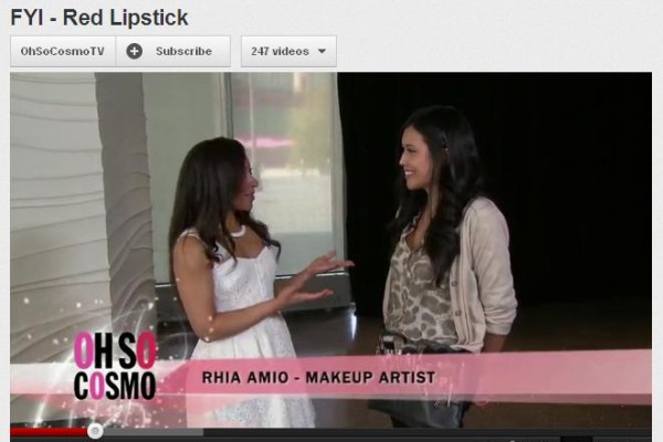 Rhia Amio chats with Jacqui Skeete on how to wear red lipstick. Oh So Cosmo May 30th edition