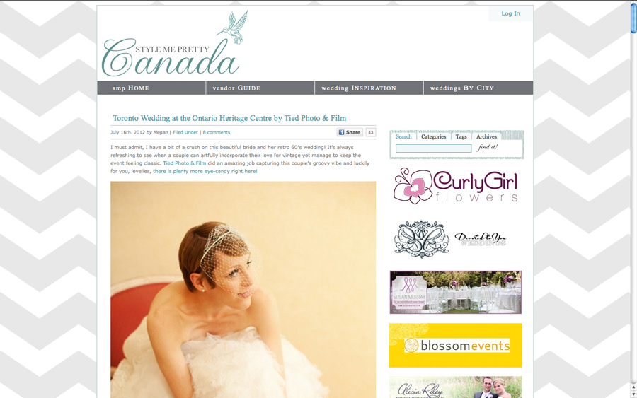Bridal Beauty Julia on Style Me Pretty. Make-up by Rhia Amio.