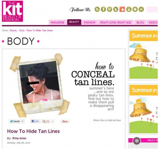 UPDATES   How to Conceal Tan Lines with artistrhi x The Kit