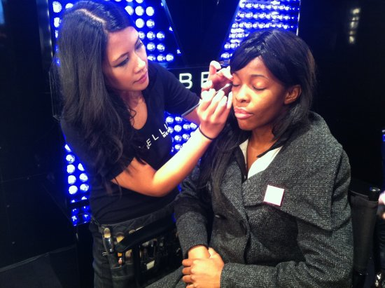 Toronto Make-up Artist Rhia Amio with Maybelline during World Mastercard Fashion Week Toronto Spring/Summer 2013