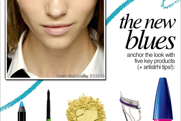 Get the Look | How to Wear Blue Eye Make-up for Spring Summer 2013 by Rhia Amio artistrhi Toronto Make-up Artist