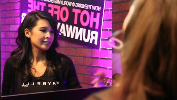 Rhia at World Mastercard Toronto Fashion Week with Maybelline