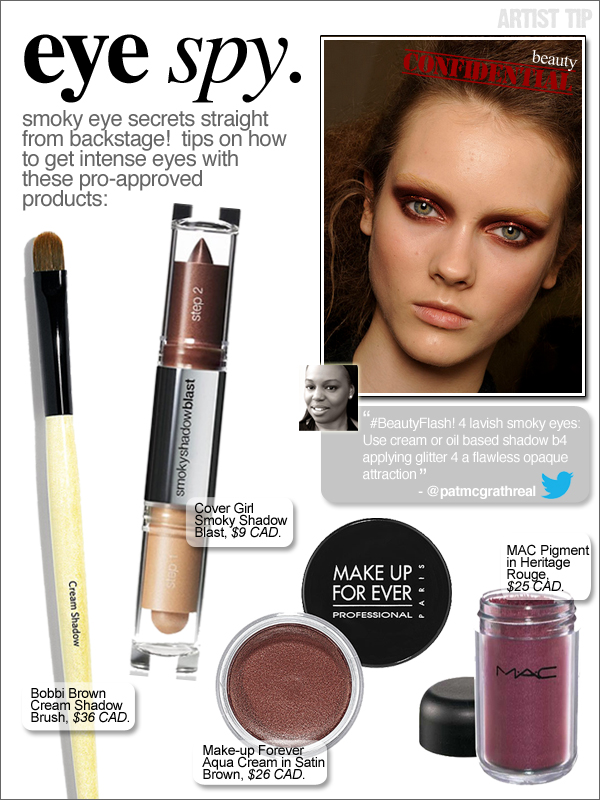 Eye Spy:  Make-up Artist Tips for Intense Smoky Eyes