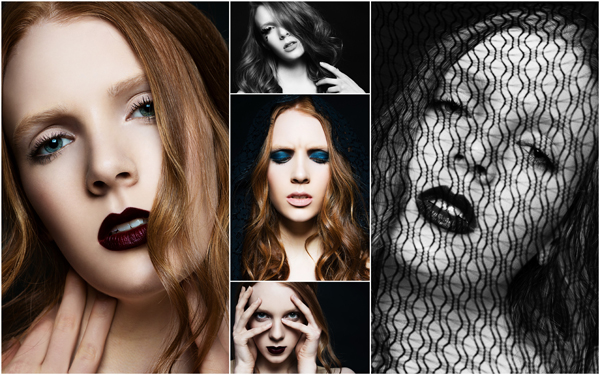 Hair + Make-up by Rhia Amio.  Photography by Sam Assam.  Model Quinn at Peggi Lepage.