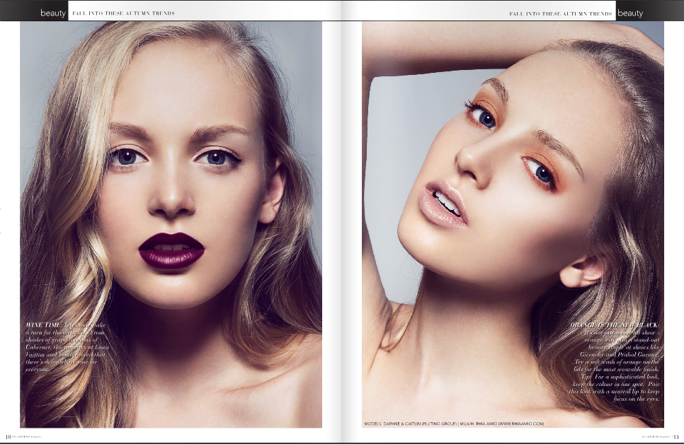 Remark Magazine Fall 2013. Make-up and Hair by Rhia Amio