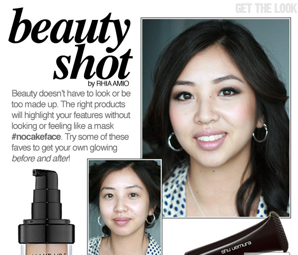 Before and After Make-up with Rhia Amio Toronto Make-up and Hair Artist