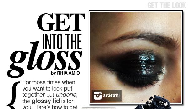 Glossy Eye Make-up Tips by Rhia Amio Toronto Make-up and Hair Artist