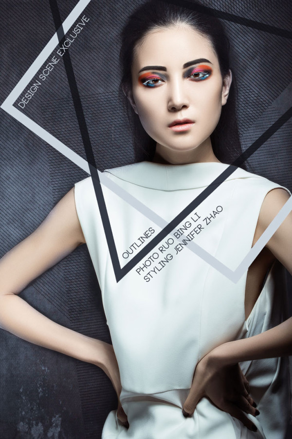Editorial Beauty Toronto Make-up and Hair Artist Rhia Amio.  Photography by Robin Li.  Design Scene Exclusive
