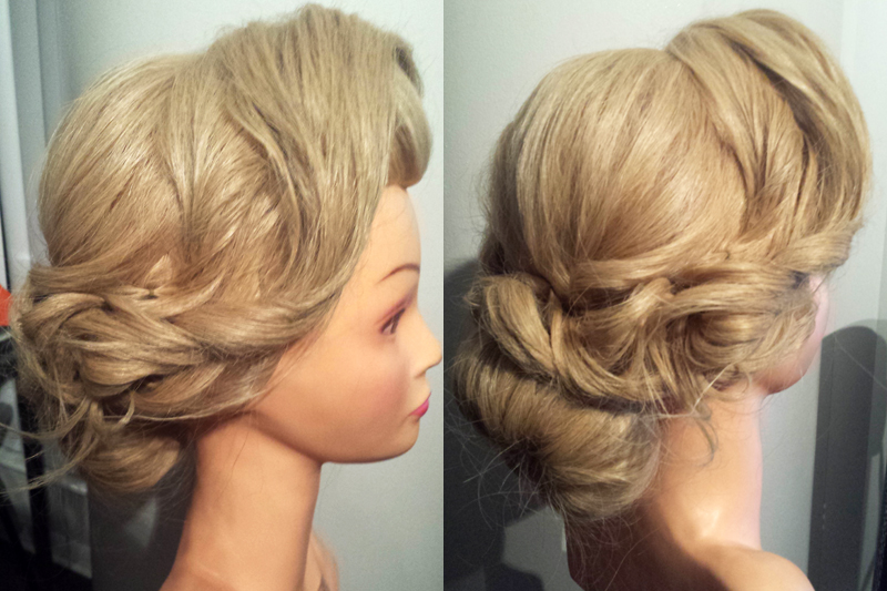 soft vintage with bun