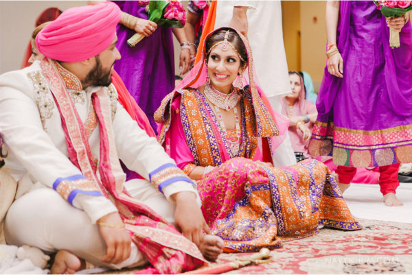 Bridal beauty for Indian wedding by Make-up Artist and Hairstylist Rhia Amio based in Toronto, ON.  Photography by Navy Nhum with Event Planning by Memory Box Events
